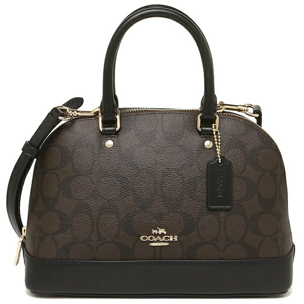 Coach Mini Sierra Satchel Brown / Black / Gold # F27583