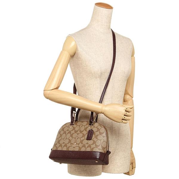 894043b0b ... purse 9e429 6d515; get coach mini sierra satchel in signature coated  canvas khaki oxblood glitter f21825 d296d 77e07
