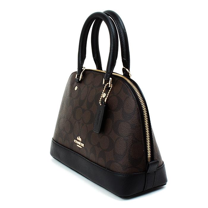 dfa7cac5c0ea ... official coach mini sierra satchel in signature black brown f37232  42a63 c385d