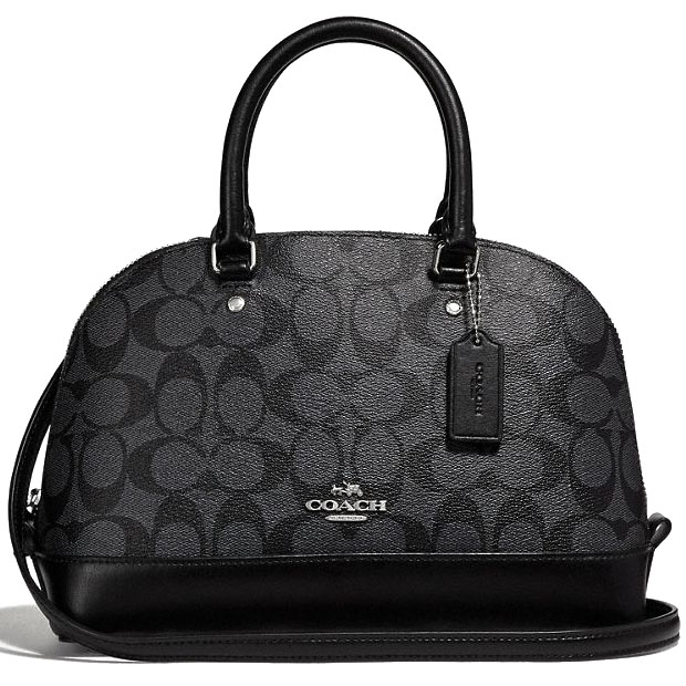 Coach Mini Sierra Satchel In Signature Black Smoke # F58295