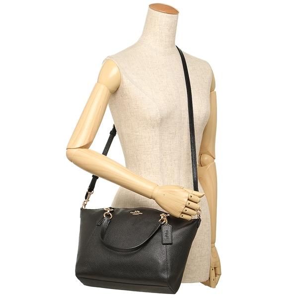Coach Pebble Leather Small Kelsey Satchel Crossbody Shoulder Bag Black    F36675 d5a0d46057
