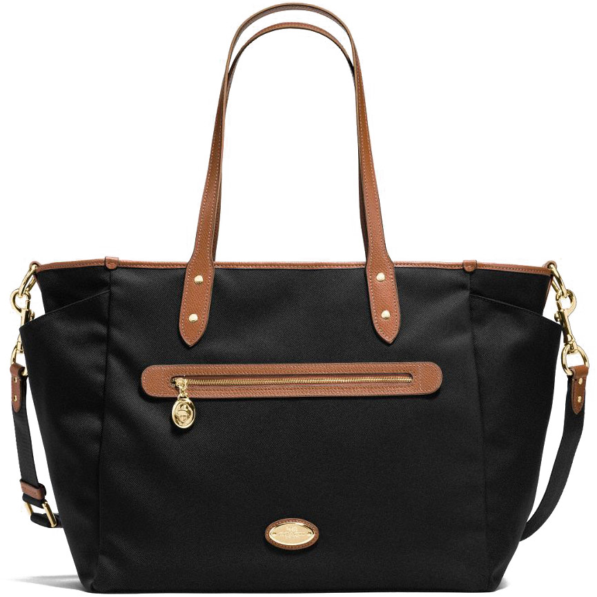 Coach Sawyer Baby Bag In Polyester Twill Black # F37758