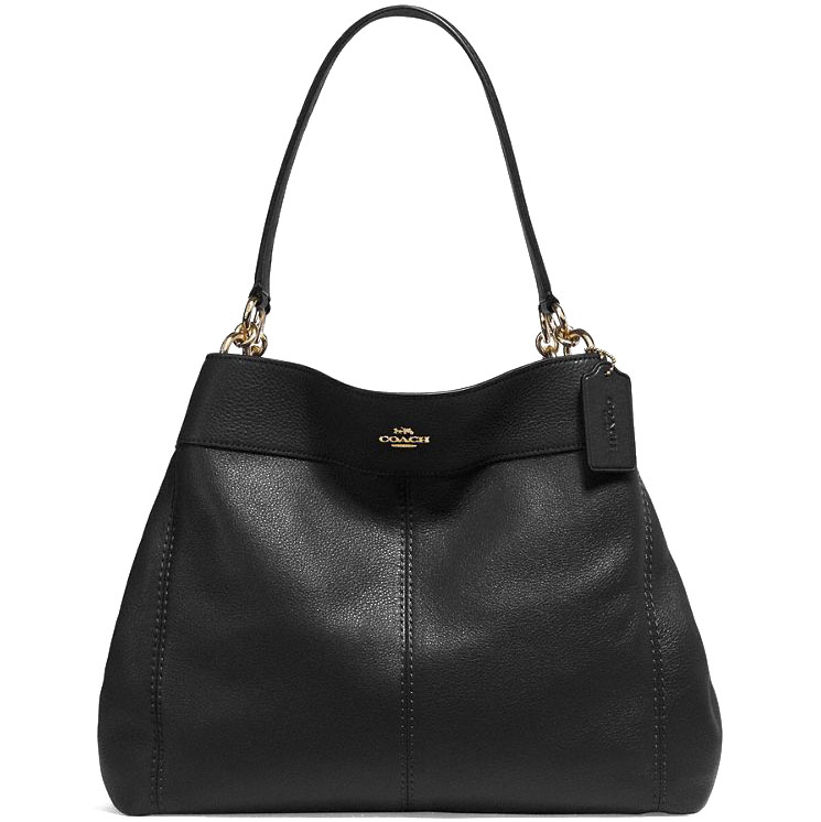 Coach Shoulder Bag In Gift Box Lexy Leather Shoulder Bag Tote Black # F27593