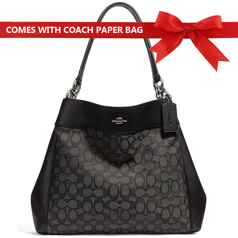 Coach Shoulder Bag Lexy Shoulder Bag Black Smoke / Silver # F27579