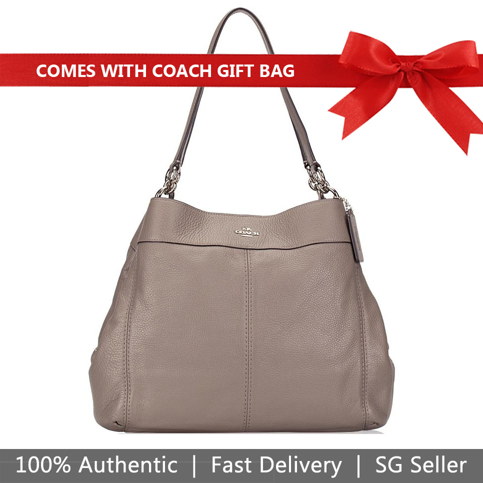 Coach Shoulder Bag With Gift Bag Lexy Shoulder Bag Fog Grey # F27593