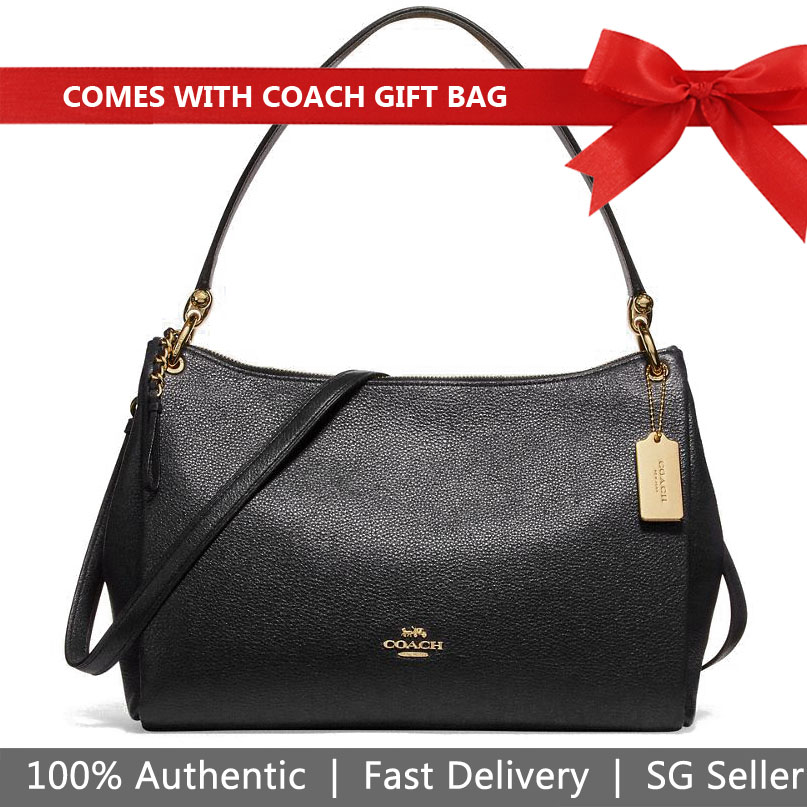 Coach Shoulder Bag With Gift Bag Mia Shoulder Bag Black # F28966