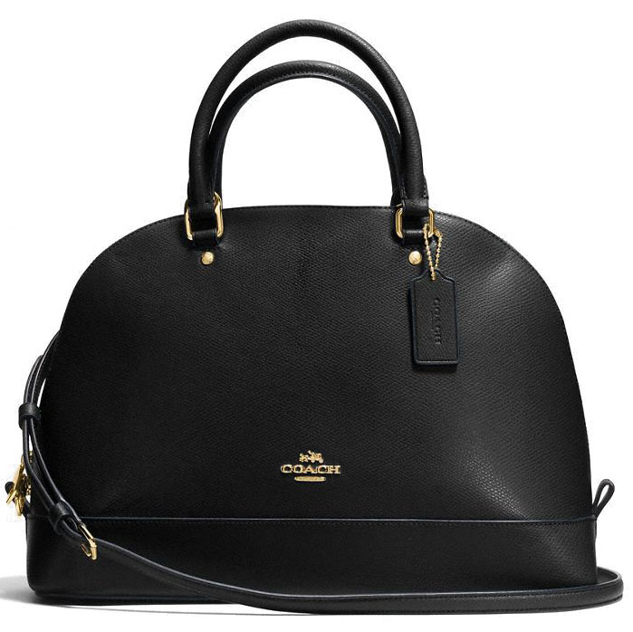 Coach Sierra Satchel In Crossgrain Leather Black # F57524