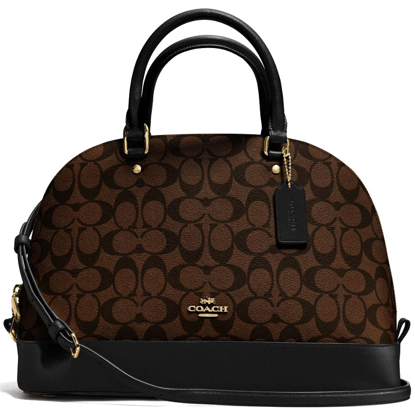 Coach Sierra Satchel In Signature Black / Brown # F37233