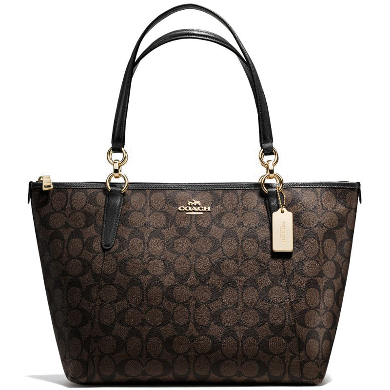 Coach Signature Ava Tote Black / Brown # F55064