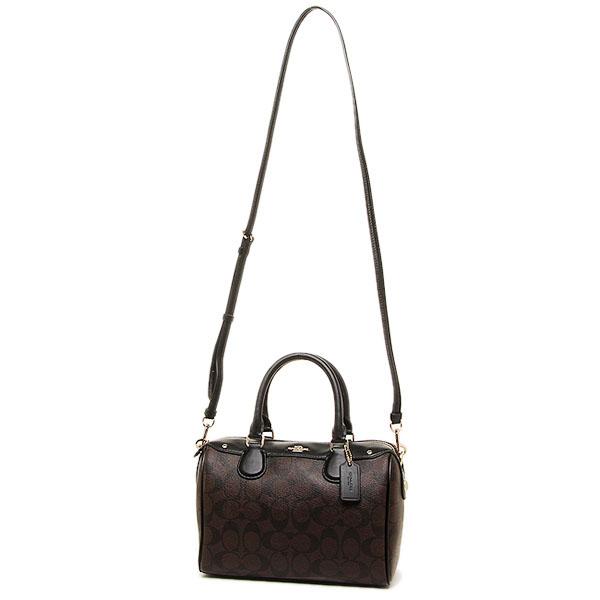 8db4f124f610 Coach Signature Mini Bennett Satchel Crossbody Bag Black   Brown   F58312