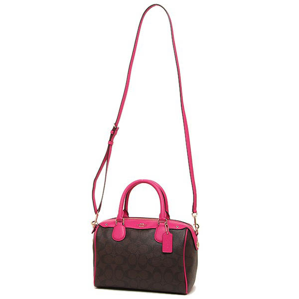ec03e48a0d ... france coach signature mini bennett satchel crossbody bag brown pink  ruby gold f36702 6a93e 2db03