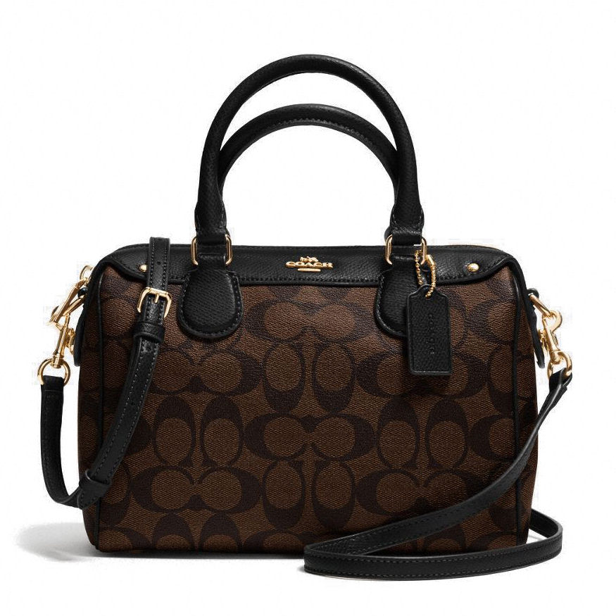 Coach Signature Mini Bennett Satchel Black / Brown # F36702