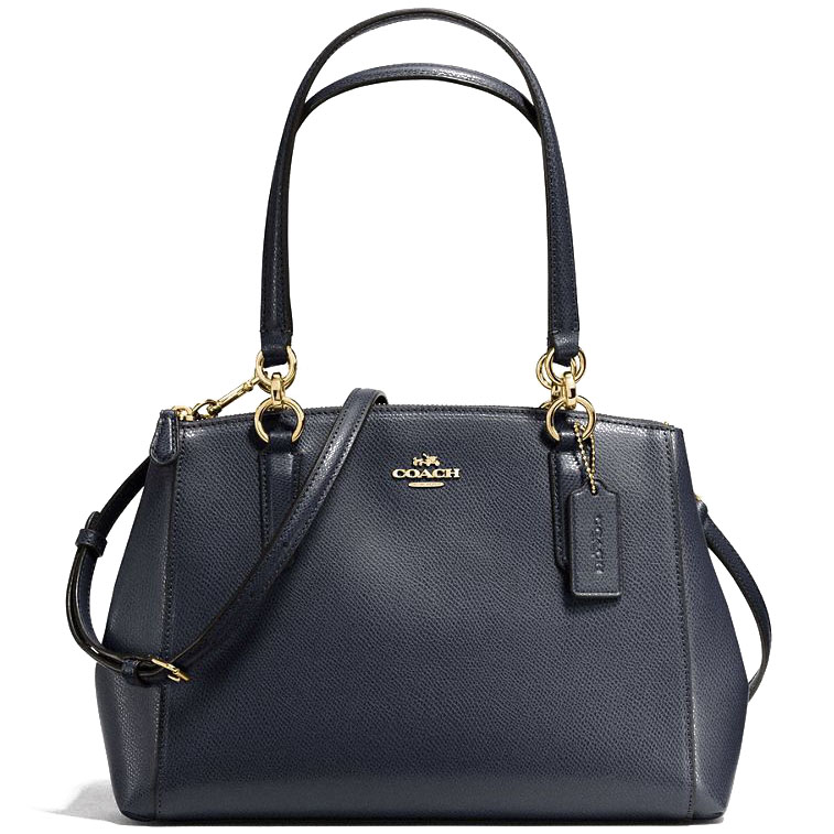 Coach Small Christie Carryall In Crossgrain Leather Crossbody Bag Midnight Blue # F57520