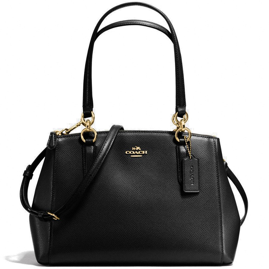 Coach Small Christie Carryall In Crossgrain Leather Gold / Black # F57520