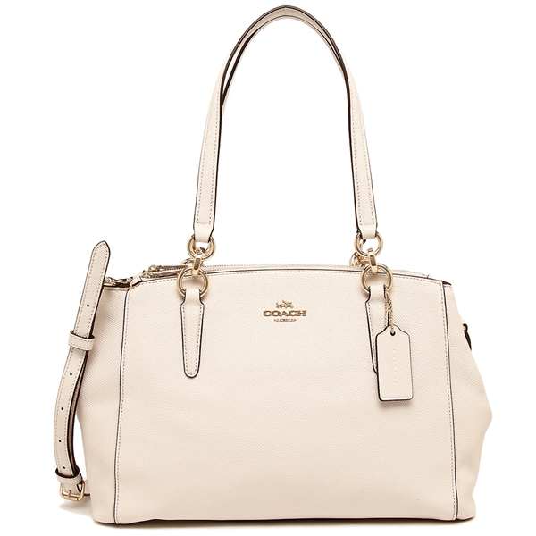 Coach Small Christie Carryall In Crossgrain Leather Gold / Chalk # F57520