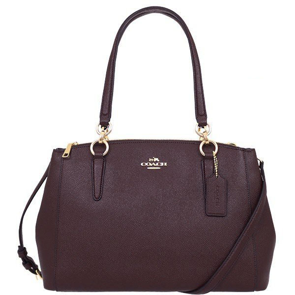 Coach Small Christie Carryall In Crossgrain Leather Light Gold / Oxblood 1 # F57520