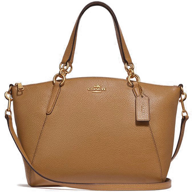 Coach Small Kelsey Satchel Light Saddle Brown Brown / Gold # F28993