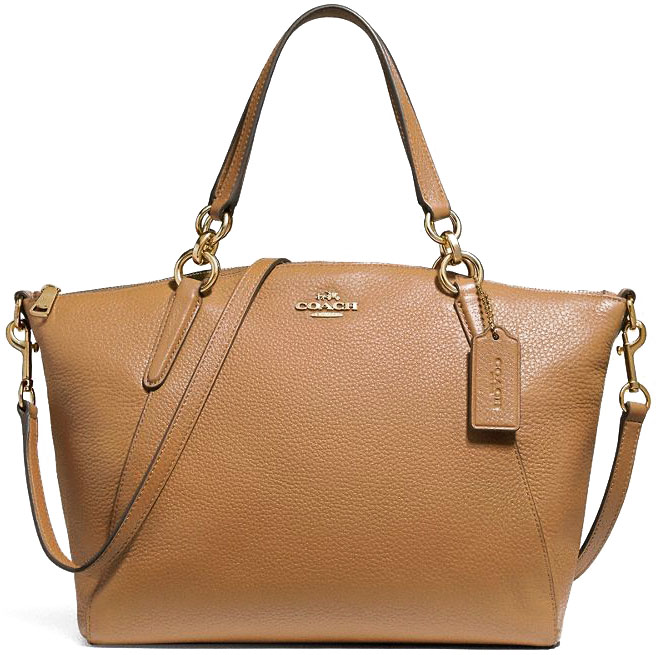 Coach Small Kelsey Satchel Light Saddle # F26917