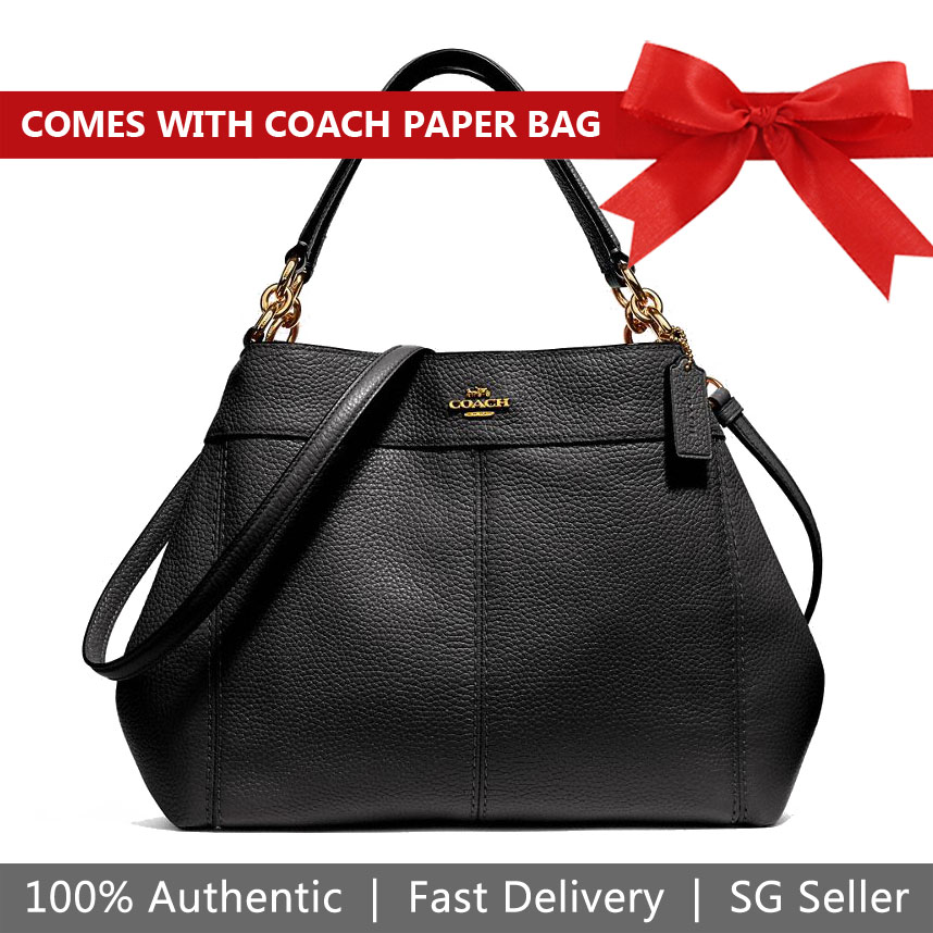 Coach Small Lexy Shoulder Bag Black / Gold # F28992