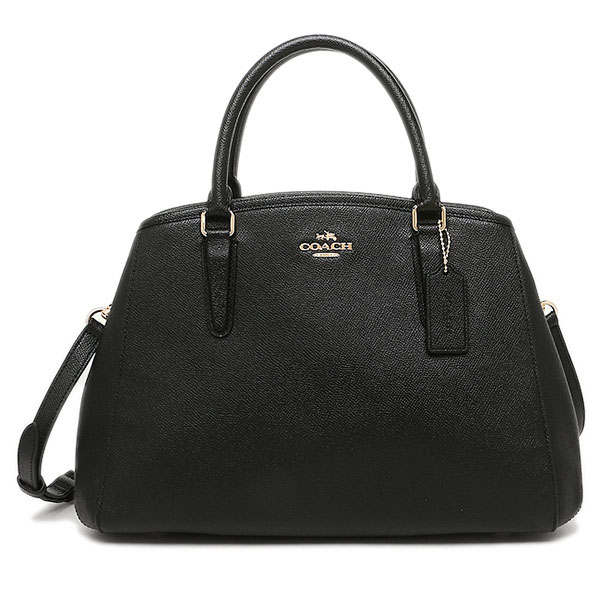 Coach Small Margot Carryall In Crossgrain Leather Gold / Black # F57527