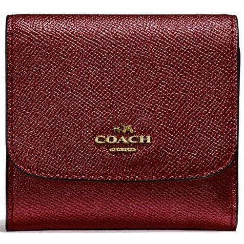 Coach Small Wallet Metallic Cherry Red # F21069