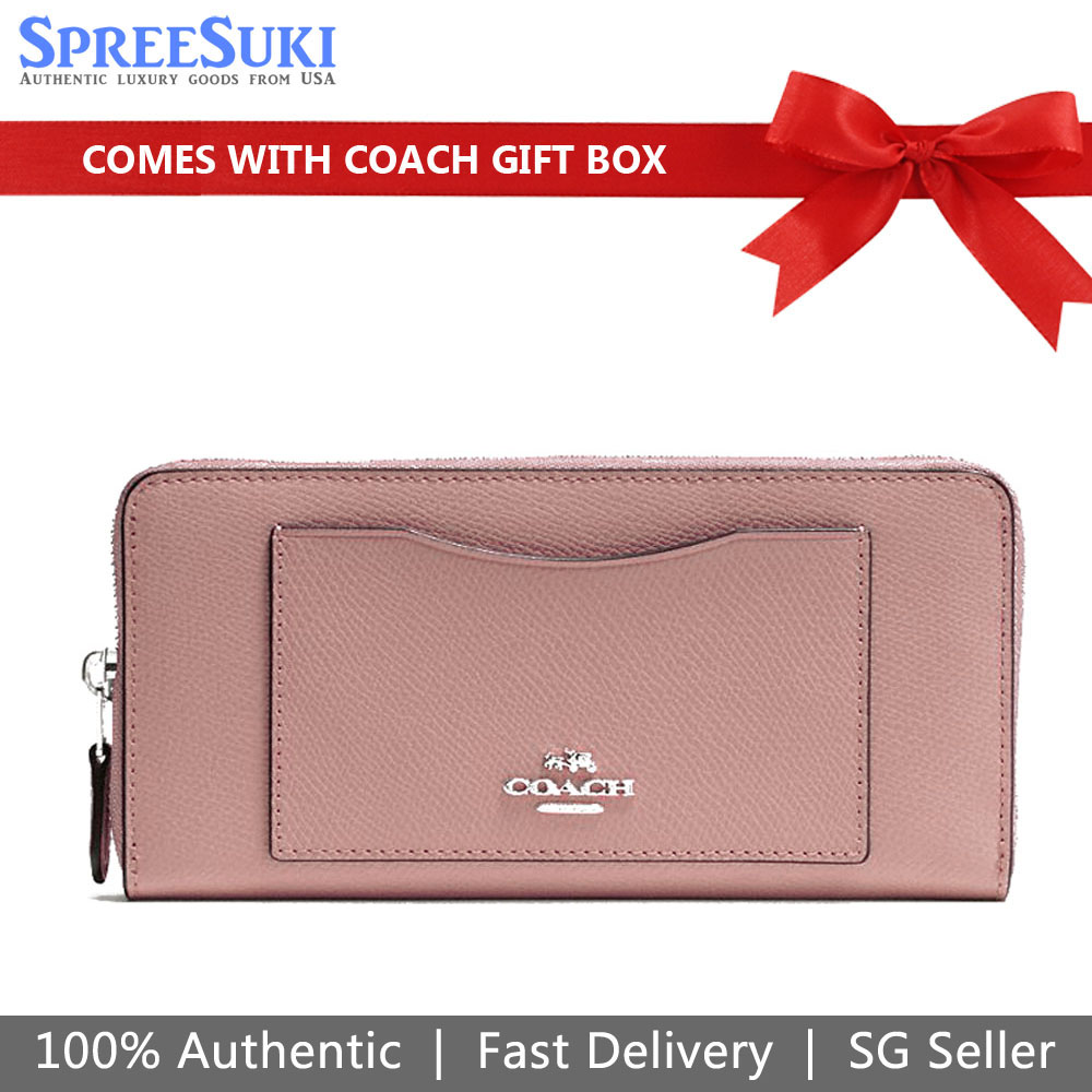 Coach Accordion Zip Wallet Dusty Rose Pink # F54007