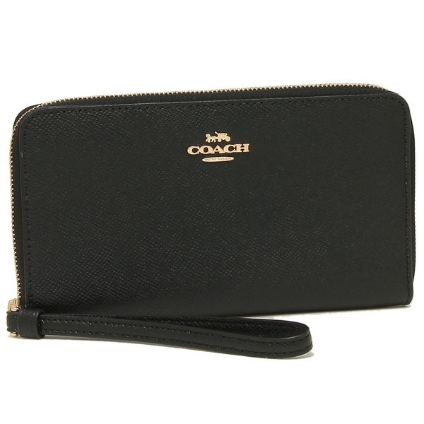Coach Large Phone Wallet Black # F73413