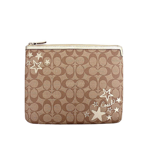 Coach Heritage Star Tablet Sleeve Case Khaki # F61455
