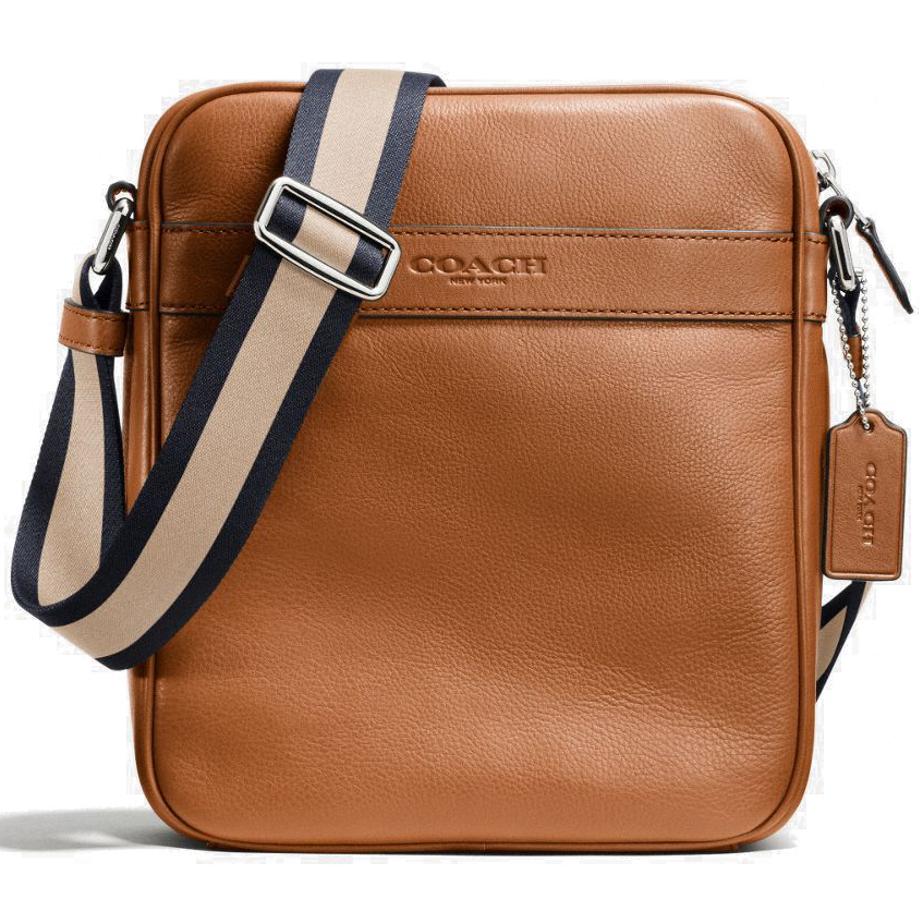 Coach Smooth Leather Flight Bag Crossbody Saddle # F71723