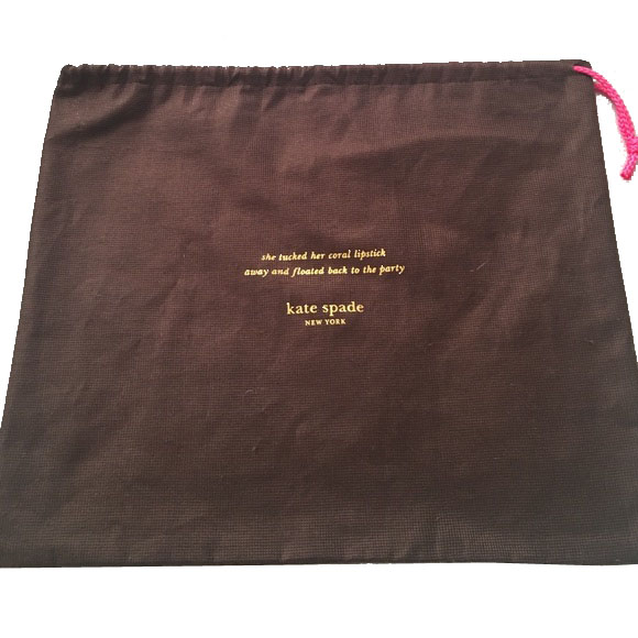Kate Spade 27 Inch X 19 Inch Large Dust Bag Brown # KSLDB
