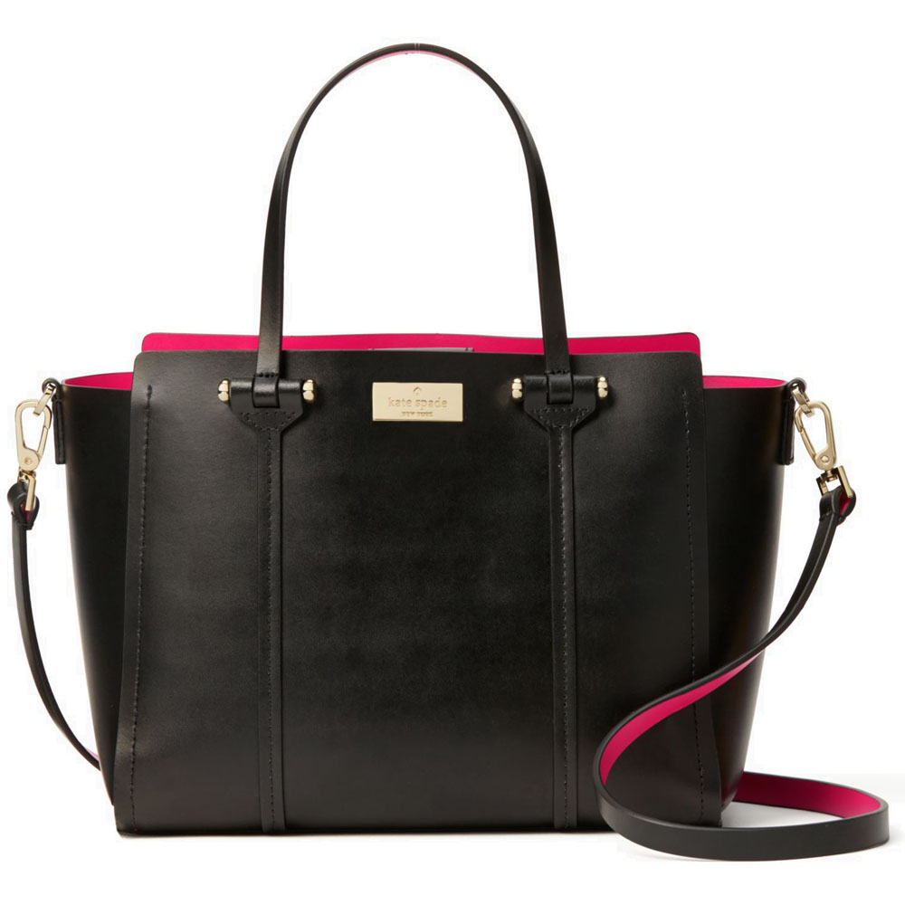 Kate Spade Arbour Hill Alston Crossbody Bag Black / Sweetheart Pink # WKRU4170
