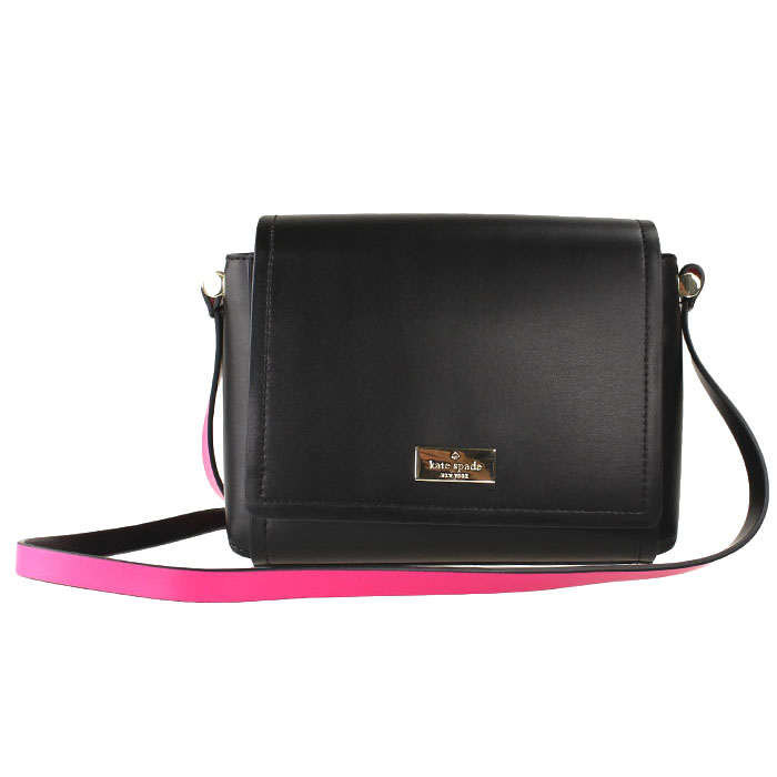 Kate Spade Arbour Hill Avva Crossbody Bag Black / Sweetheart Pink # WKRU3945