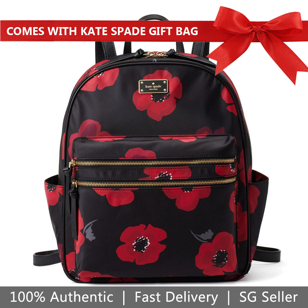 Kate Spade Backpack Wilson Road Poppy Bradley Backpack Black # WKRU5411