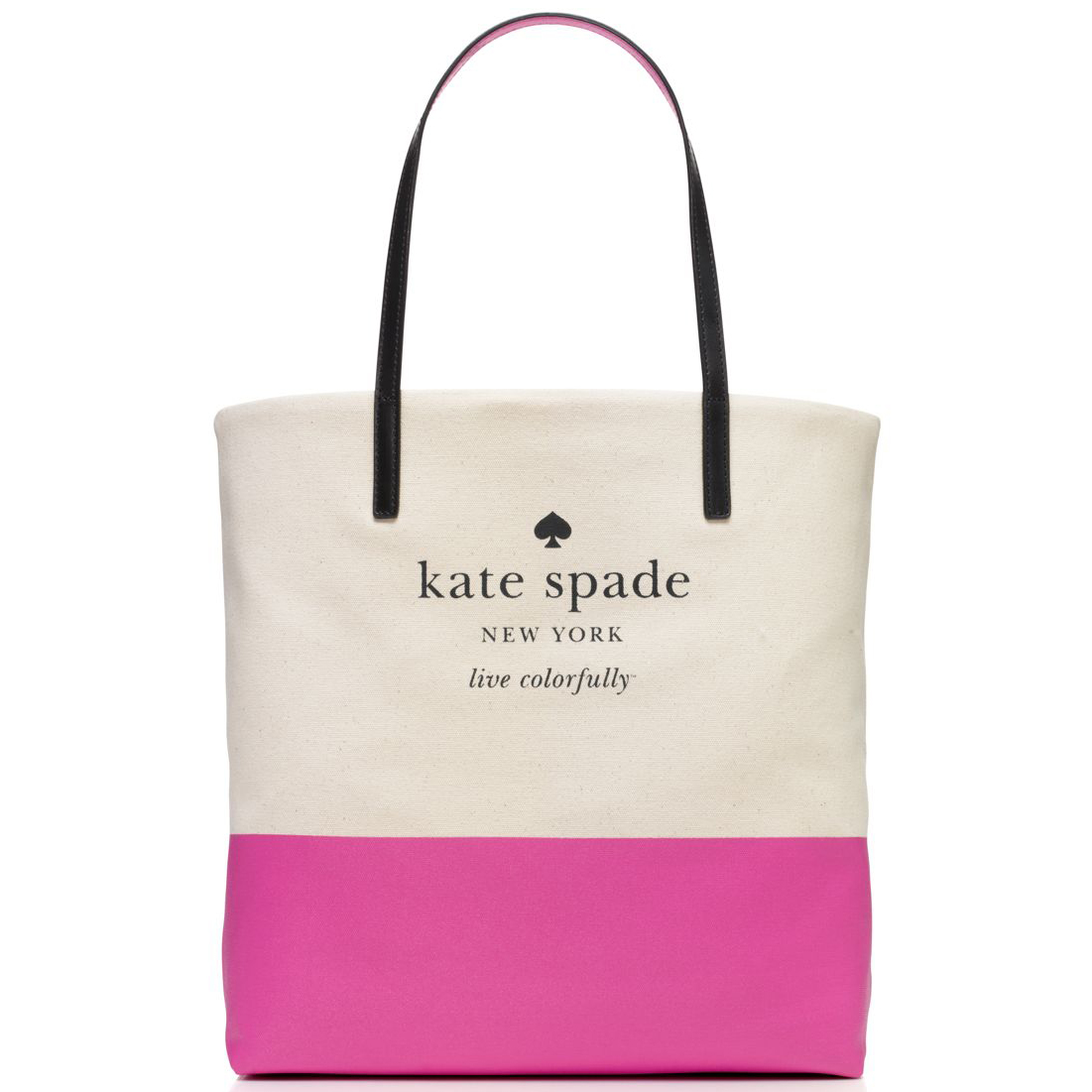 Kate Spade Basin View Bon Shopper Natural / Bougainvillea # WKRU3039