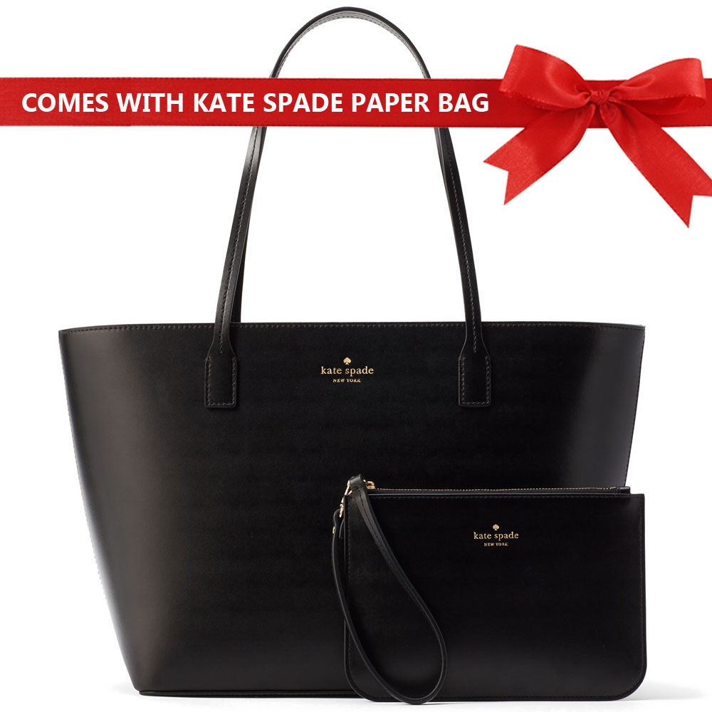 Kate Spade Bennet Place Small Harmony Tote And Wristlet Set Black # WKRU4766