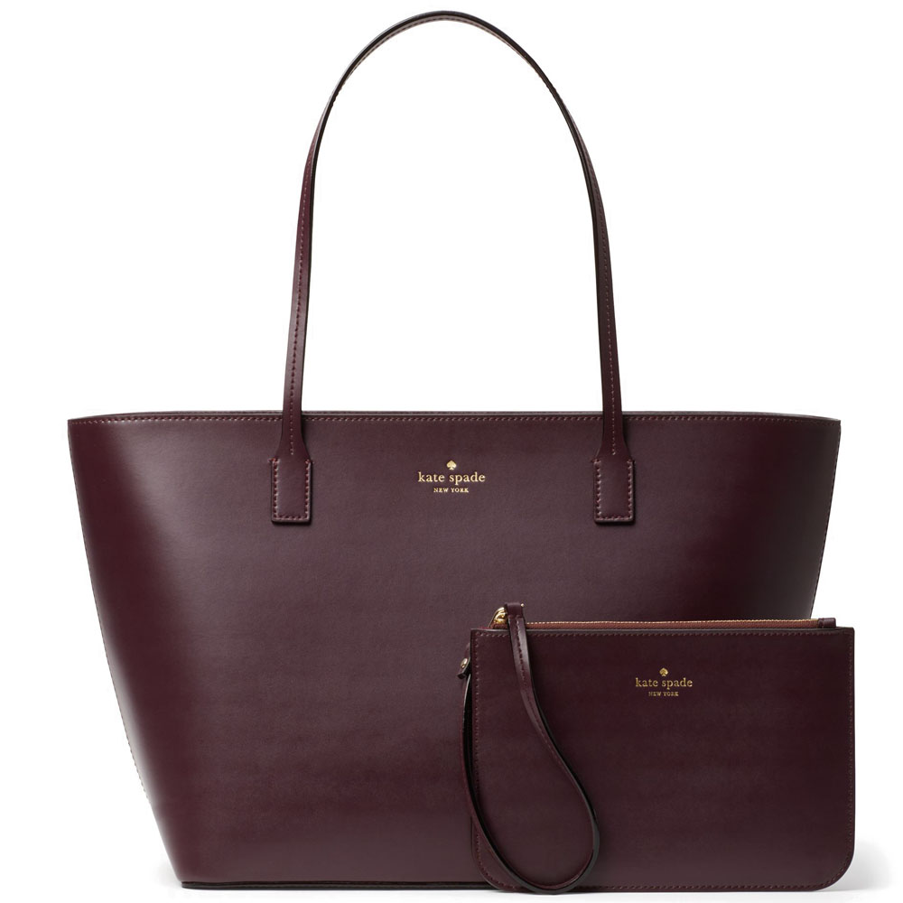 Kate Spade Bennet Place Small Harmony Tote And Wristlet Set Mahogany # WKRU4766