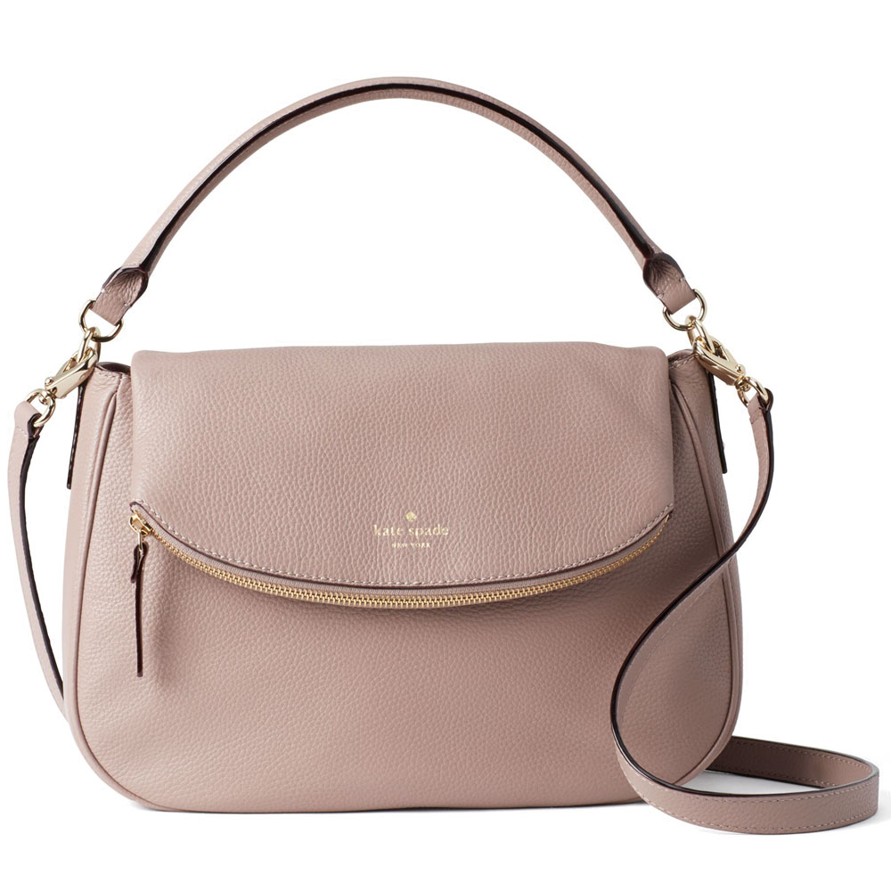Kate Spade Boerum Place Devin Crossbody Bag Shoulder Bag Porcini Beige Nude # WKRU4346