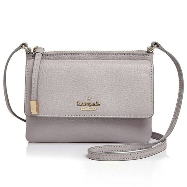 Kate Spade Boulder Lane Allegra Crossbody Bag Nouveau Neutral / Gold # PXRU7126