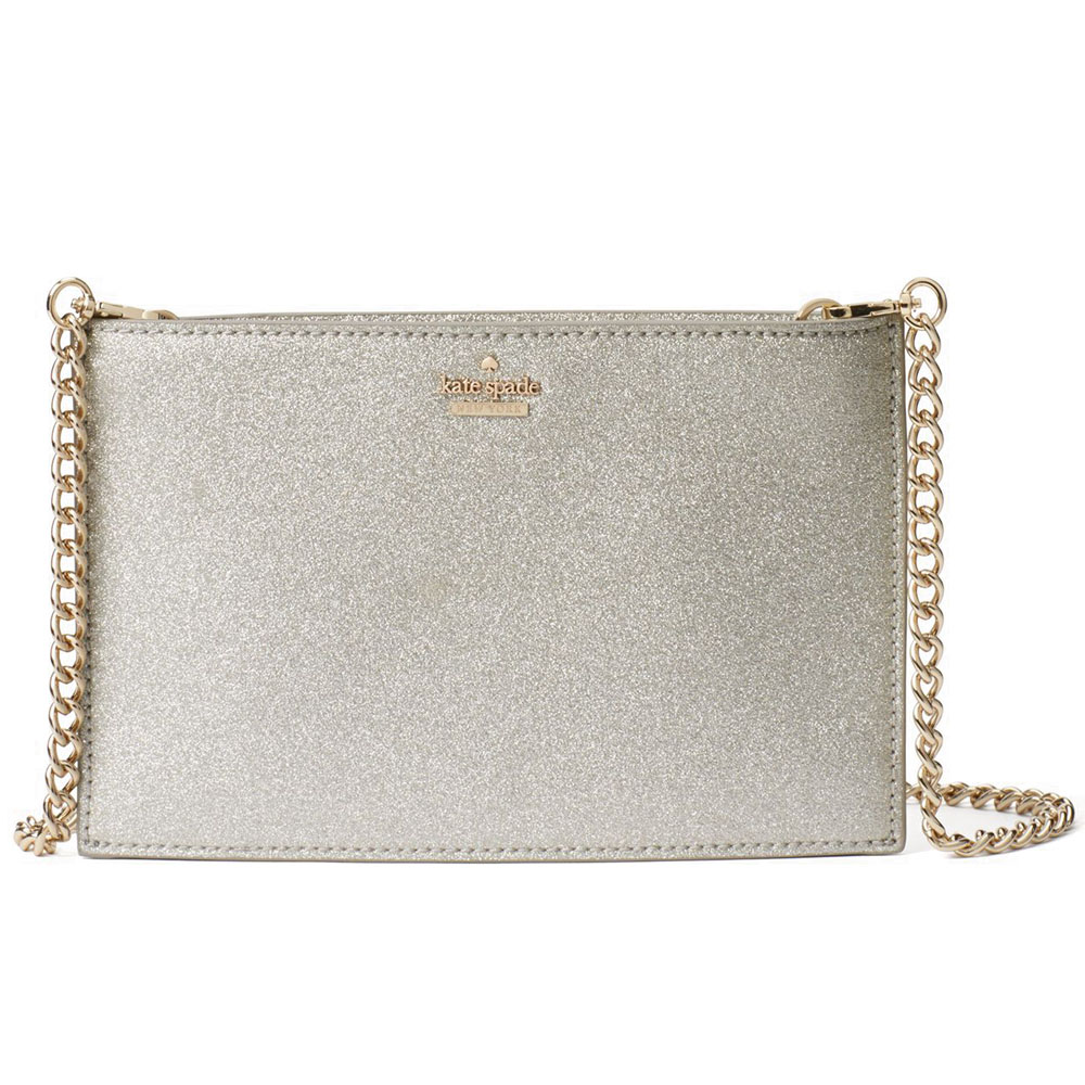 Kate Spade Burgess Court Mini Sima Crossbody Bag Silver # PWRU6022
