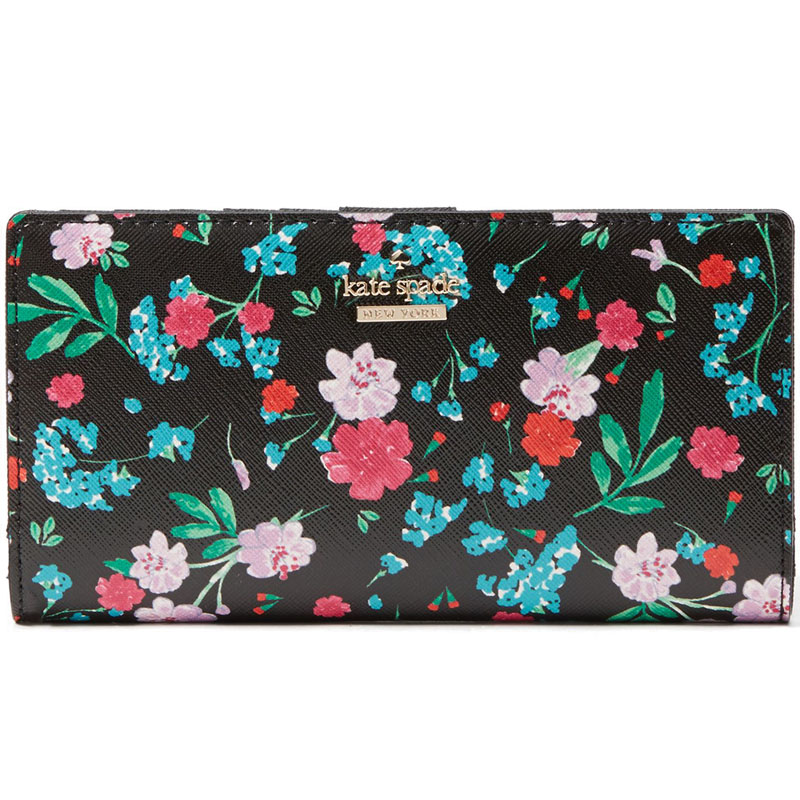 Kate Spade Cameron Street Jardin Stacy Black / Multi Flowers # PWRU5776