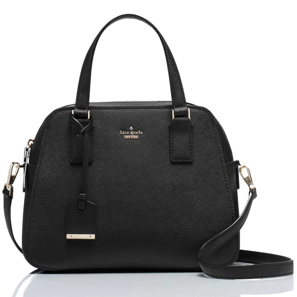 2365a4eedebe Kate Spade Cameron Street Little Babe Satchel Crossbody Bag Black   PXRU7445