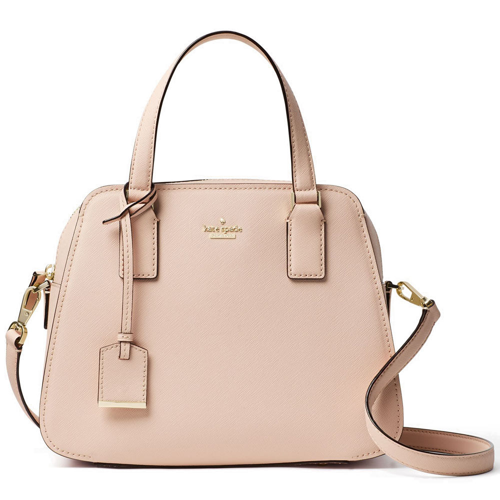 Kate Spade Cameron Street Little Babe Satchel Crossbody Bag Toasted Wheat Nude Beige # PXRU7445