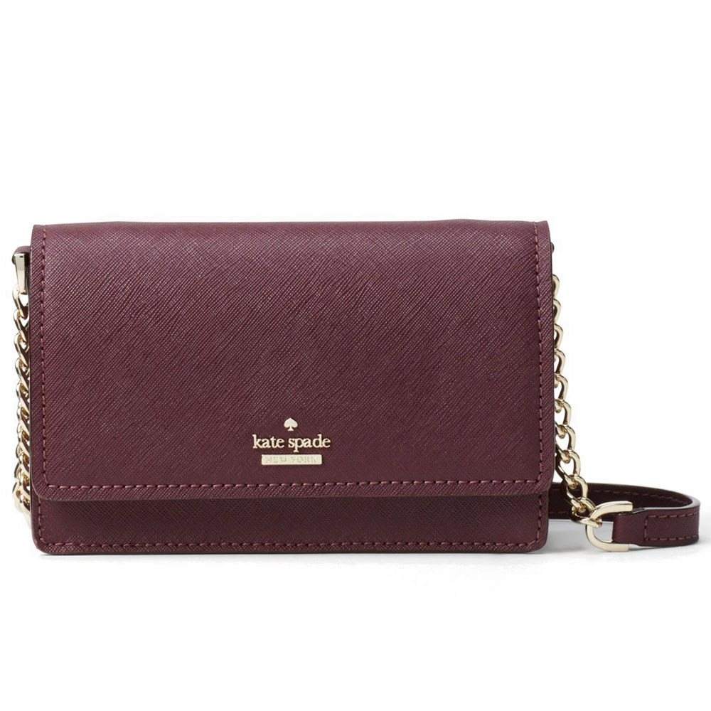 Kate Spade Cameron Street Shreya Crossbody Bag Deep Plum Red # PWRU6014
