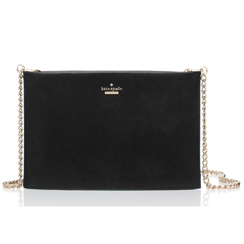 Kate Spade Cameron Street Sima Clutch Crossbody Bag Black # PXRU6924