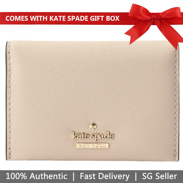 Kate Spade Card Case In Gift Box Small Wallet Card Holder Cameron Street Farren Warmvelum Beige Nude # PWRU6046