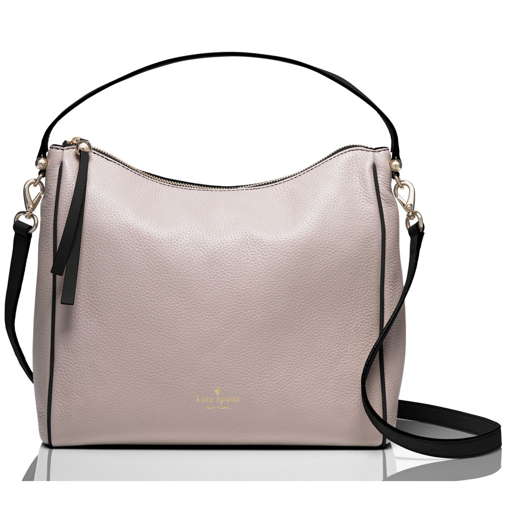 Kate Spade Charles Street Colorblock Small Haven Crossbody Bag Mousse Frost Beige Nude / Black # WKRU3874