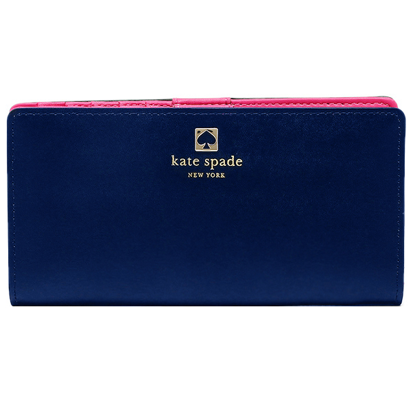 Kate Spade Charlotte Terrace Stacy Wallet Indigo Blue # WLRU2066