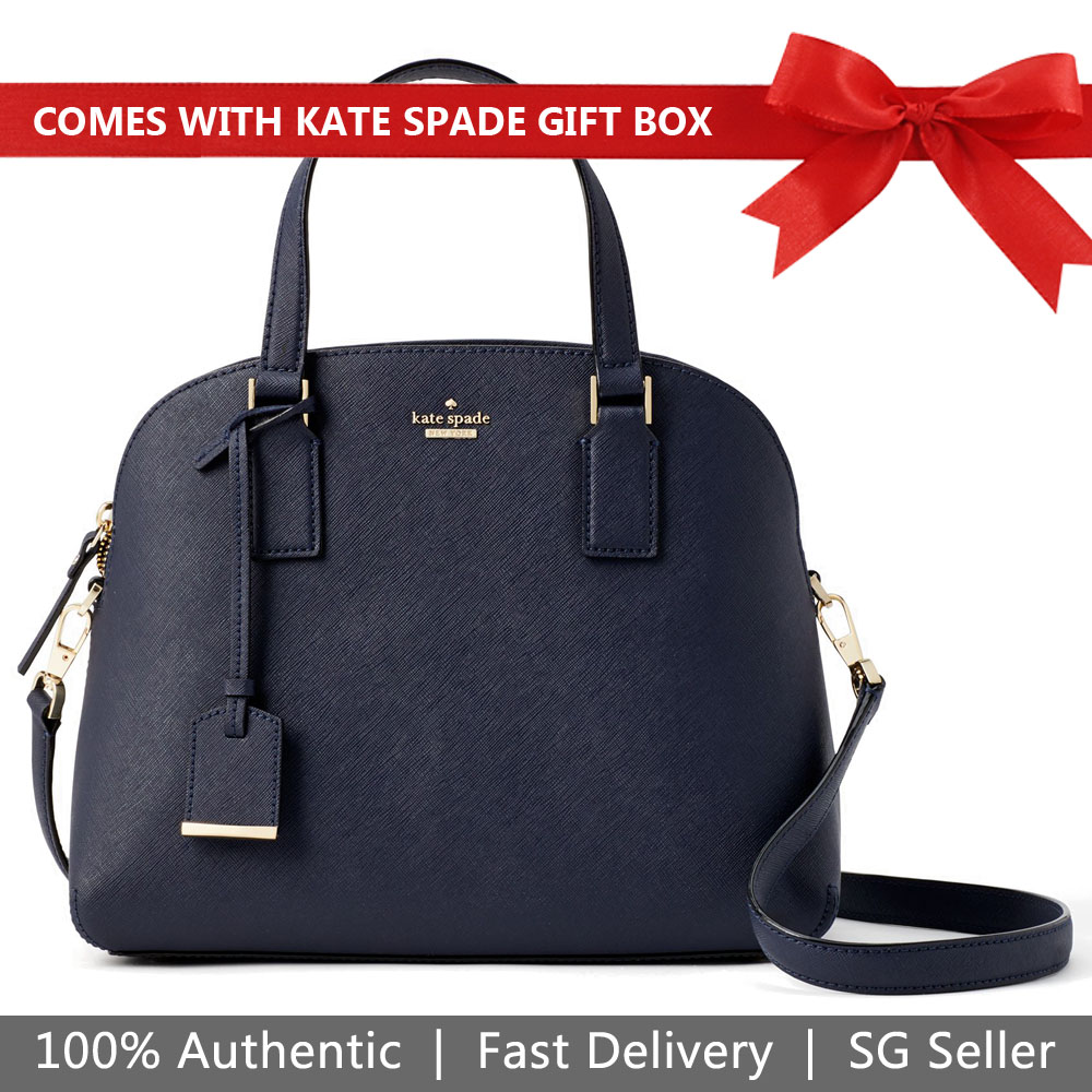 Kate Spade Crossbody Bag In Gift Box Cameron Street Lottie Satchel Blazer Blue # PXRU8262