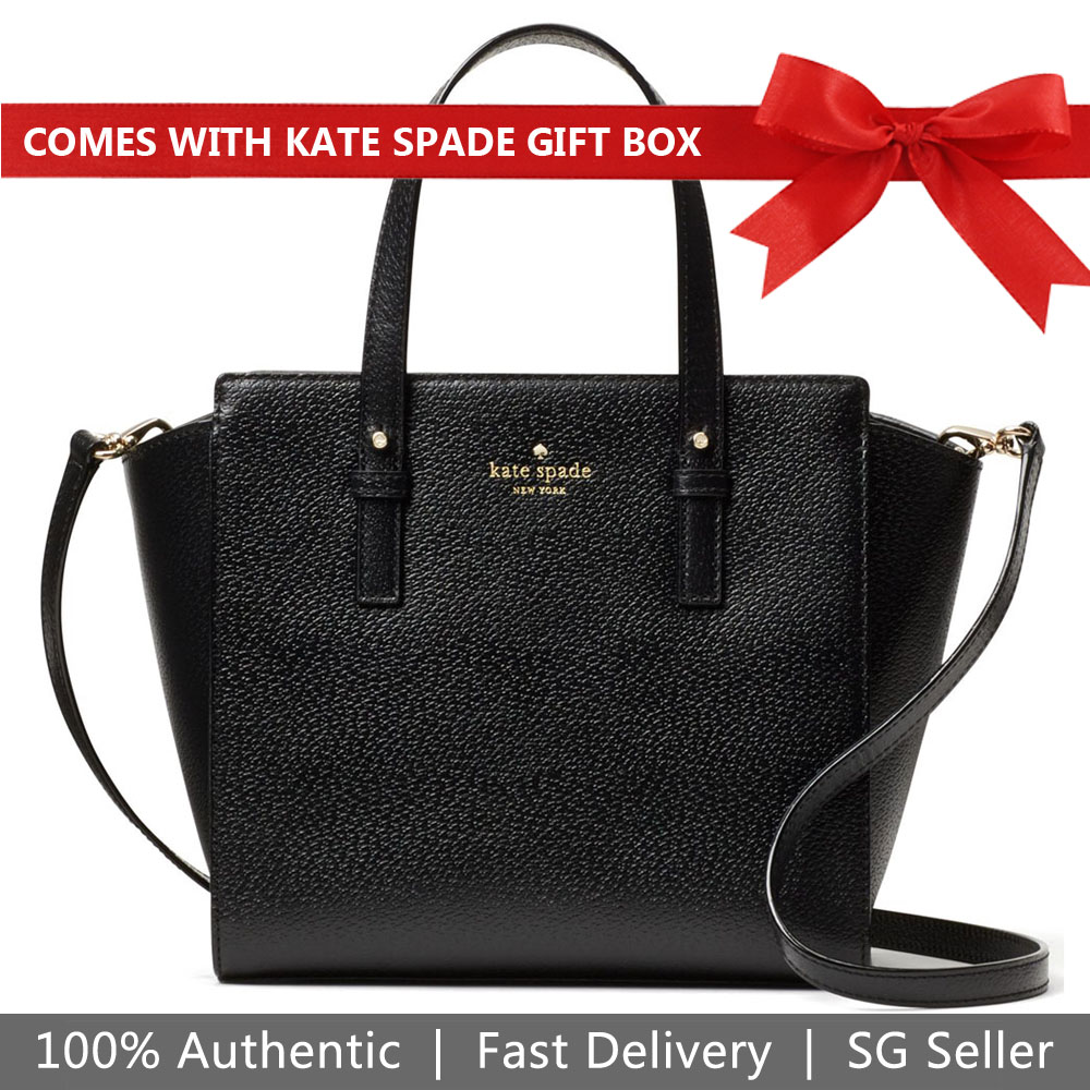Kate Spade Crossbody Bag In Gift Box Grand Street Small Hayden Black # WKRU4564