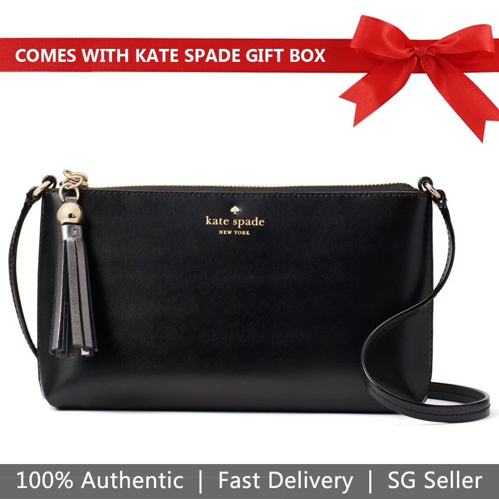 Kate Spade Crossbody Bag In Gift Box Ivy Street Amy Crossbody Bag Black # WKRU4856